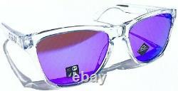 NEW Oakley Frogskins Clear Crystal w Violet Iridium Sunglass oo9013