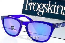 NEW Oakley Frogskins Crystal Purple POLARIZED Violet Purple Sunglass 9013-H8