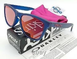 NEW Oakley Frogskins sunglasses Blue Woodgrain Torch Asian Fit 9245-54 GENUINE
