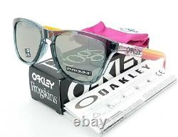 NEW Oakley Frogskins sunglasses Crystal Black Prizm AUTHENTIC Asian FT 9245-7054