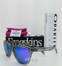NEW Oakley Frogskins sunglasses Grey Violet Iridium Polarized 9013-l1 AUTHENTIC