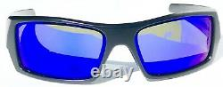 NEW Oakley GASCAN Matte BLACK w POLARIZED Galaxy Blue Sunglass 9014