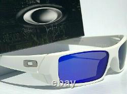NEW Oakley GASCAN Matte White w POLARIZED Galaxy Blue Sunglass 9014