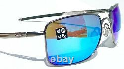 NEW Oakley GAUGE 8 L Matte Gunmetal POLARIZED PRIZM Sapphire Sunglass 4124-06 62