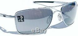 NEW Oakley GAUGE 8 M Matte LEAD w Black Iridium lens Sunglass oo4124-07