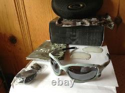 NEW Oakley GP-75 Racing Jacket Matte Blue Ice / Black Iridium & Clear, OO9171-13