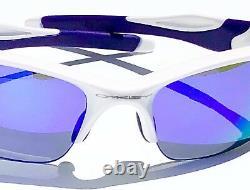 NEW Oakley HALF JACKET 2.0 WHITE Pearl w VIOLET Iridium Lens Sunglass oo9144-08