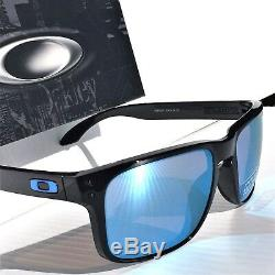 NEW Oakley HOLBROOK Black w POLARIZED DEEP WATER BLUE PRIZM Sunglass 9102C1