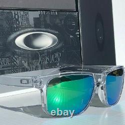 NEW Oakley HOLBROOK CLEAR w POLARIZED Galaxy JADE Iridium Sunglass 9102