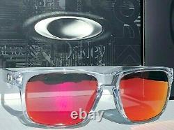 NEW Oakley HOLBROOK CLEAR w POLARIZED Galaxy Ruby Iridium Sunglass 9102