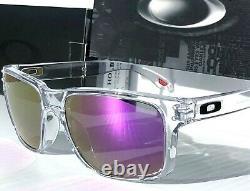 NEW Oakley HOLBROOK CLEAR w POLARIZED Galaxy Violet Purple Iridium Sunglass 9102