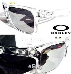 NEW Oakley HOLBROOK CLEAR w POLARIZED Mirrored Black Iridium Sunglass 9102