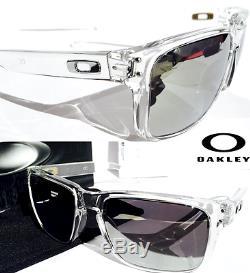 NEW Oakley HOLBROOK CLEAR w POLARIZED PRIZM Black Iridium Lens Sunglass 9102