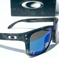 NEW Oakley HOLBROOK Camo BLACK w POLARIZED GALAXY Blue Iridium Sunglass 9102