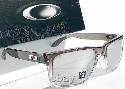 NEW Oakley HOLBROOK Grey Fade Clear Ink POLARIZED CHROME Iridium Sunglass 9102