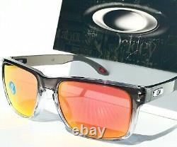 NEW Oakley HOLBROOK Grey Fade Clear Ink POLARIZED Galaxy Ruby Sunglass 9102