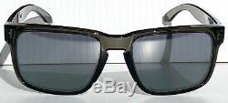 NEW Oakley HOLBROOK Grey Smoke Clear POLARIZED Galaxy Chrome Sunglass 9102