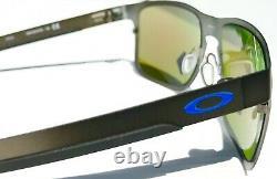 NEW Oakley HOLBROOK METAL Gunmetal POLARIZED Prizm Sapphire Sunglass 4123-07