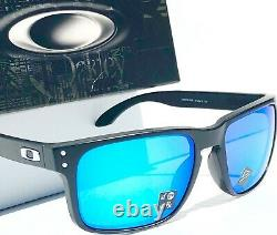 NEW Oakley HOLBROOK Matte BLACK POLARIZED PRIZM Sapphire Sunglass 9102-F0