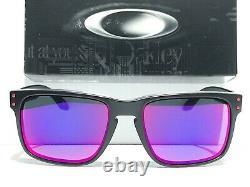 NEW Oakley HOLBROOK Matte Black Positive Red Iridium Lens GT Sunglass oo9102-36