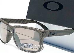 NEW Oakley HOLBROOK Woodgrain w POLARIZED Grey PRIZM DAILY Sunglass 9102-B7