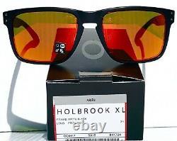 NEW Oakley HOLBROOK XL Matte Black Ducati Red PRIZM Ruby lens Sunglass 9417-04