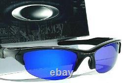 NEW Oakley Half Jacket 2.0 Black w POLARIZED Galaxy Blue Sunglass 9154