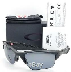 NEW Oakley Half Jacket XL sunglasses Si Matte Black Polarized AUTHENTIC 9154-13
