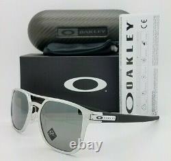 NEW Oakley Latch Alpha sunglasses Matte Silver Prizm Black Polarized oo4128-0153