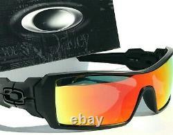 NEW Oakley OIL RIG Matte Black w POLARIZED Galaxy Ruby lens Sunglass 9081
