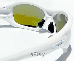 NEW Oakley PIT BULL White w POLARIZED Galaxy BLUE & Grey lens Sunglass 9161