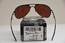 NEW Oakley Plaintiff POLARIZED Sunglasses Matte Black with00 Black Iridium 405707
