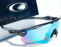 NEW Oakley RADAR EV Matte Black POLARIZED PRIZM Deep Water H2O Sunglass 9208-55