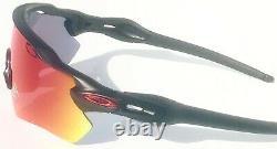 NEW Oakley RADAR EV PATH Matte Black Red frame PRIZM ROAD lens Sunglass 9208-46