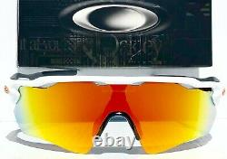 NEW Oakley RADAR EV PATH White Bike w Fire Ruby Iridium lens Sunglass oo9208