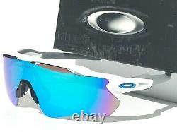 NEW Oakley RADAR EV WHITE polished Sky Sapphire Blue Sunglass 9208-73