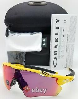 NEW Oakley Radar EV Path sunglasses Matte Yellow Tour France Prizm Road 9208-76