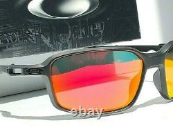 NEW Oakley SIPHON Matte Black w POLARIZED Galaxy Ruby Iridium Sunglass 9429