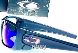 NEW Oakley SI Fuel Cell Black USA Flag POLARIZED Galaxy Blue Sunglass 9096