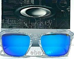 NEW Oakley SLIVER XL CLEAR Crystal POLARIZED Galaxy Blue 2 Lens Sunglass 9341