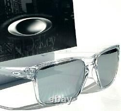 NEW Oakley SLIVER XL CLEAR Crystal POLARIZED Galaxy Chrome Mirror Sunglass 9341