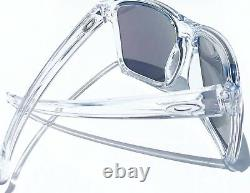 NEW Oakley SLIVER XL CLEAR polished frame w JADE Iridium Lens Sunglass 9341-02