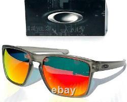 NEW Oakley SLIVER XL Grey Smoke POLARIZED Galaxy Ruby Iridium Sunglass 9341
