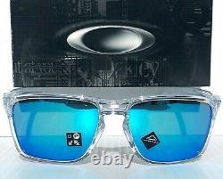 NEW Oakley SYLAS Clear Crystal polished w PRIZM Sapphire Blue Sunglass 9448-04