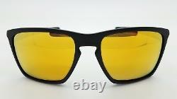NEW Oakley Sliver XL Sunglasses Matte Black 24K Iridium gold 9341-07 AUTHENTIC