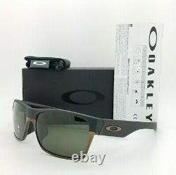 NEW Oakley Sunglasses Two Face Matte Black Dark Grey AUTHENTIC 9256-0160 twoface
