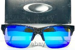 NEW Oakley THINLINK Grey Smoke w POLARIZED Galaxy Blue lens Sunglass 9316