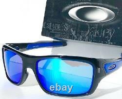 NEW Oakley TURBINE Black Ink frame w Sapphire Blue Lens Sunglass 9263-05