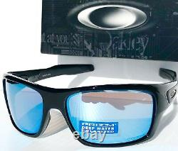 NEW Oakley TURBINE Black POLARIZED Deep Water BLUE H20 PRIZM Sunglass 9263-14