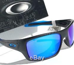 NEW Oakley TURBINE Black Sapphire Fade POLARIZED PRIZM Blue Sunglass 9263-3663
